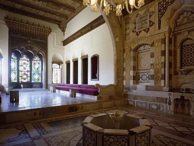 Atrium of Audience Hall at Moorish Style Palace of Emir Bashir Shihab II, 1804-1840