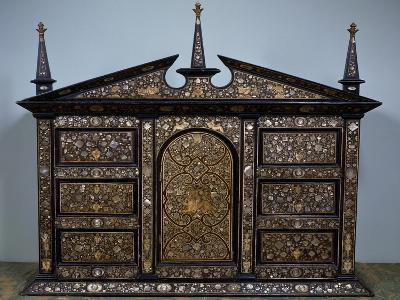 Venetian Architectural Cabinet with Inlays, Italy, 16th Century