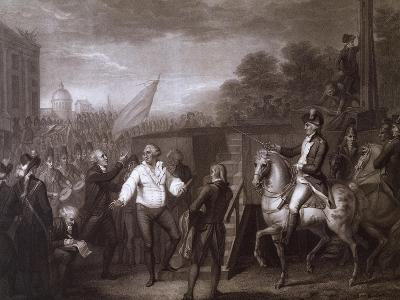 King Louis XVI of France Being Led to the Gallows. French Revolution, France