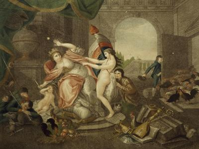 This Is Italy in Mournful Era of First Invasion, 1796, Allegory, Italy