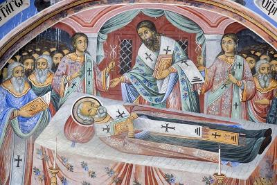 Bulgaria, Rila Monastery, Funeral Fresco at Church of Nativity of Virgin