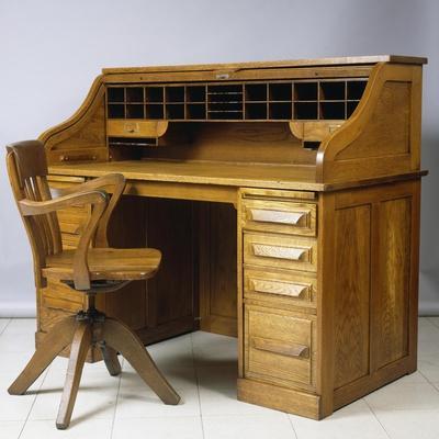 Roll-Top Desk, 1920, Oak, Cutler Desk Co, Buffalo, United States of America