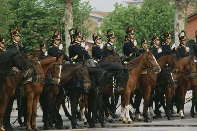 Horse Regiment Military Batteries at Cuirassiers Gala