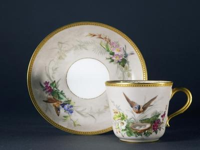 Cup and Saucer, Part of Coffee Service, Circa 1865