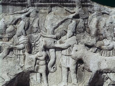 War Scene with Elephants, Detail from Relief on Arch of Galerius, Ca 297