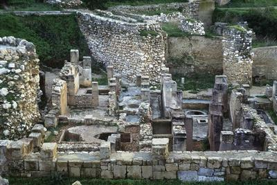 Tunisia, Carthage, Archaeological Site, Punic Ruins on Byrsa Hill