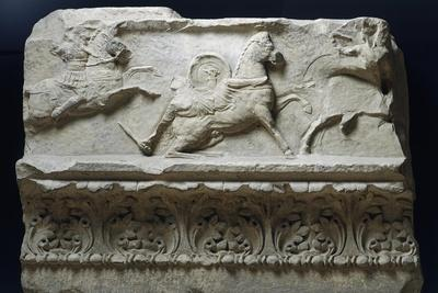 Horseback Riding from Temple of Apollo Sosianus, Rome, Italy