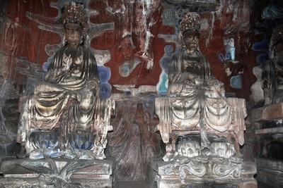 China, Chongqing, Dazu County, Dazu Rock Carvings with Stone Sculptures at Mount Baoding