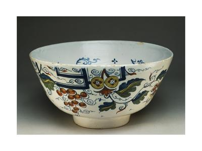 Punch Cup with Squirrels and Vines, Ca 1730