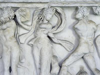 Satyrs and Maenads Dancing, Relief from Roman Sarcophagus, Monumental Cemetery of Pisa
