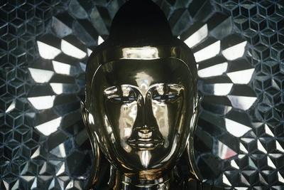 Myanmar, Rangoon, Gold Statue Head