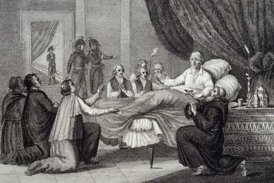 Death of Pope Pius VI, Valencia, August 29, 1799, Italy