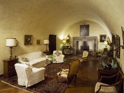 Italy, Brescia, Castle of Bornato, Room with Barrel Vault