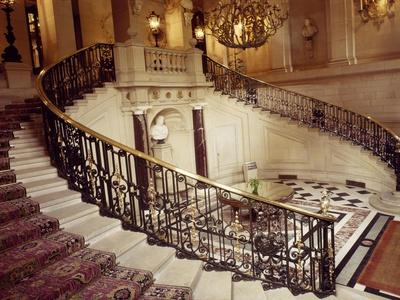 Grand Staircase in Neoclassical Style, Chateau De Ferrieres, Near Paris, France