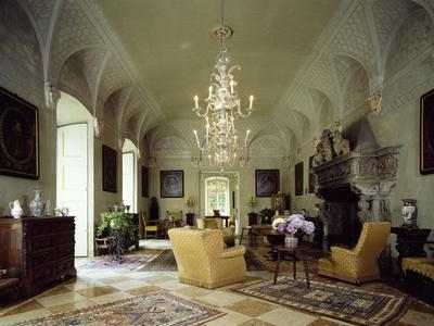 Italy, Somma Lombardo, Castello Visconti Di San Vito, Hall of Prometheus' Fireplace
