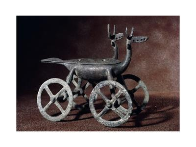 Bronze Incense Burners in the Shape of Zoomorphic Cart, 8th Century BC