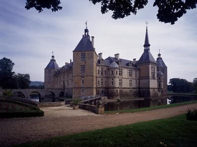 France, Loire Valley, Chateau De Sully, Facade Facing Park, Built in 18th Century