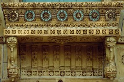 Detail of Decoration of House or Haweli of Wealthy Merchants