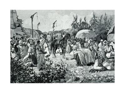 Capture of Kassala, Italian General Oreste Baratieri Liberating Egyptian Prisoners, 1894