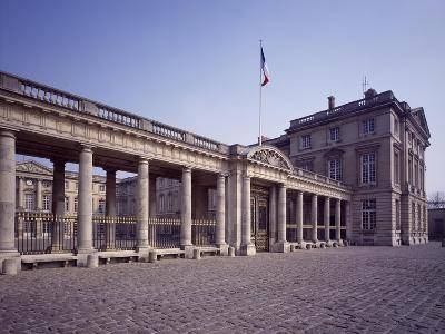France, Chateau De Compiegne, Palace Facade and Colonnade