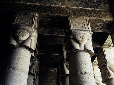 Capitals of Hypostyle Hall, Temple of Hathor, Dendera, Detail