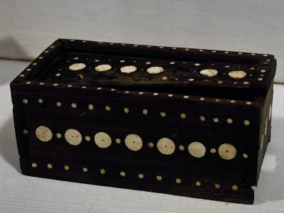 Nubian Casket, Inlaid with Mother of Pearl