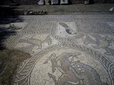 Mosaic from Early Christian Basilica, Delphi, Greece, Hellenistic Civilization, 5th Century