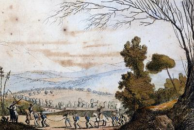 Arrest of Soldiers in the Menzagno Countryside Near Palermo, July 19, 1820, Moti Sicily, Italy