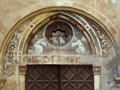 Italy, Subiaco, Main Entrance to Sacro Speco Monastery