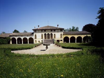 Facade of Villa Agostini-Tiretta, Cusignana, Giavera of Montello, Veneto, Italy, 15th-16th Century