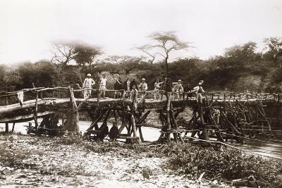 Italian Soldiers on a Bridge over the River Mareb in 1897