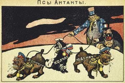 The Capitalists Unleashing their Dogs, Bolshevik Propaganda Manifesto, Russian Revolution, Russia