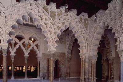 Spain, Aragon, Saragossa, Interior of Aljaferia Palace