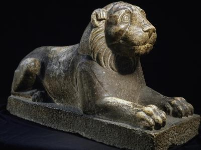 Lion, Limestone Statue, 337-641 Ad, from Egypt, Byzantine Civilization, 4th-7th Century