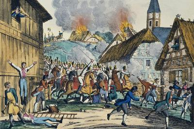 Scenes of Horror in Alsace in 1815 Following Arrival Allied Armies