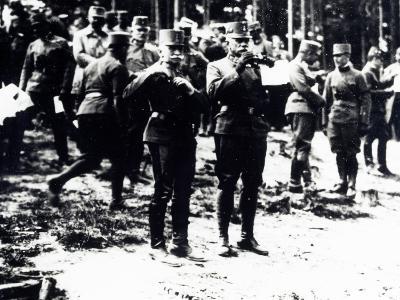 Austrian Field Marshal Count Conrad Von Hotzendorf with His General Staff, May 1916