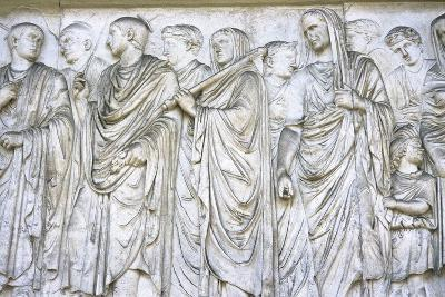 Ara Pacis Augustae, Frieze, Procession on South Side, 13-9 B.C. Rome, Italy