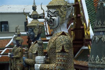 Detail of Statues of Royal Palace in Bangkok, Thailand, 18th-19th Century