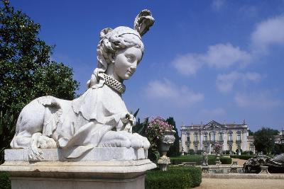Statue in the Garden of Queluz National Palace, Portugal