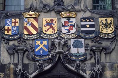 Crests Above Entrance of Delftland Community Headquarters, Delft, Netherlands