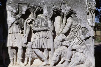 Bas-Relief with Soldiers, Isola Sacra Necropolis, Fiumicino, Lazio, Italy