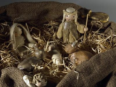 Nativity of Jesus, Nativity Made of Salt Dough, Straw and Jute