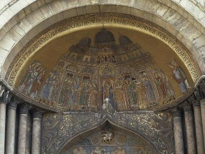 Lunette on St. Alypius' Arc, Mosaic on the Facade of St. Mark's Basilica, Venice, Italy