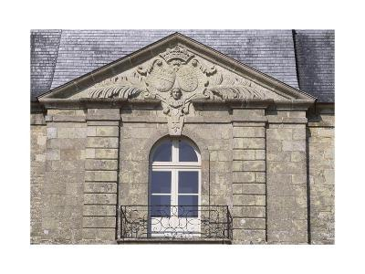 Facade of Chateau De Tregranteur, Guegon, Brittany, Detail, France, 18th-19th Century