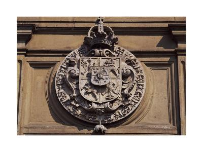 Crest on Wawel Royal Castle in Krakow, Poland, 16th Century
