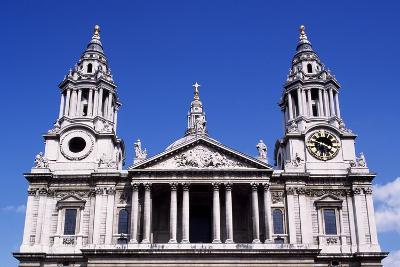 West Facade of St Paul's Cathedral, London, England, 17th-18th Century