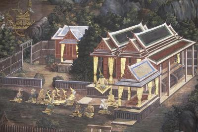 Mural Painting at Royal Palace in Bangkok, Thailand, 18th-19th Century