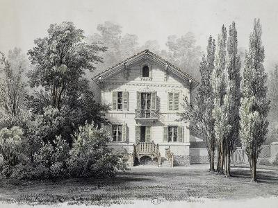 Country House with Garden, Circa 1860, France