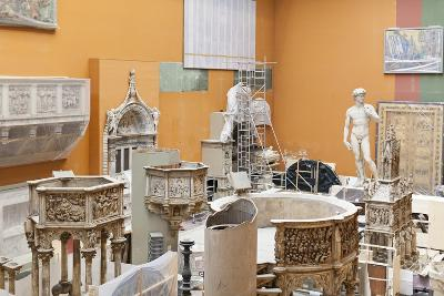 Exhibits Undergoing Restoration Works in the Victoria and Albert Museum, London, England
