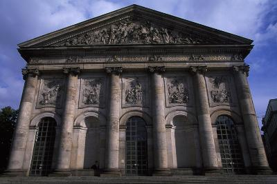 Facade of Cathedral of St. Hedwig, Bebelplatz, Berlin. Germany, 18th-20th Century.